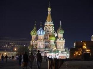 Москва, Кремъл през нощта, Русия