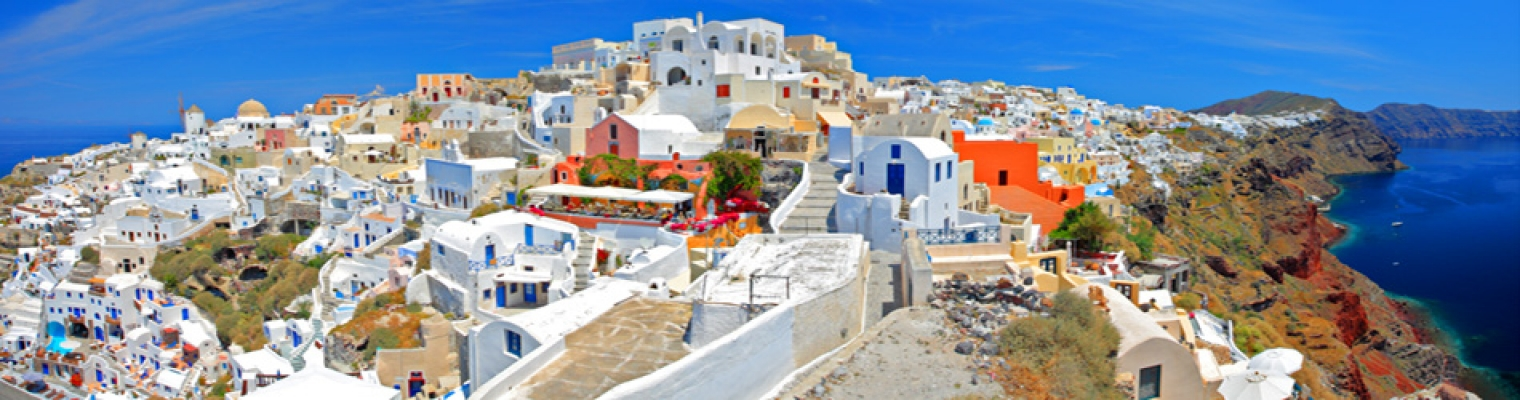 ������ ����� ��������� ���������, baner Greece Santorini
